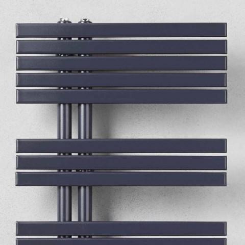 Aquecedor de toalhas de banheiro de design moderno em aço a 386 watts - pavão