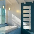 Aquecedor elétrico de toalha de aço branco Vela made in Italy by Scirocco H