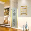 Aquecedor elétrico de toalha dourado em latão Scirocco H Caterina