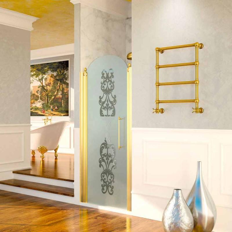 Aquecedor de toalhas banhado a ouro Scirocco H Caterina em latão fabricado na Itália