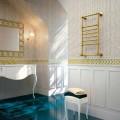 Aquecedor elétrico de toalha em latão dourado Scirocco H Amira fabricado na Itália
