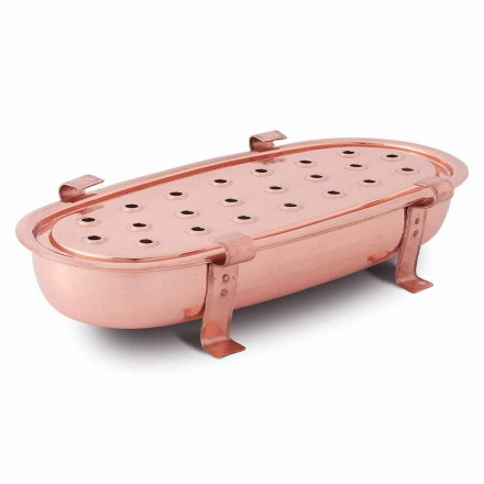 Chafing Dish de Mesa para Potes de Cobre Fabricado na Itália 45x23 cm - Mariaelena