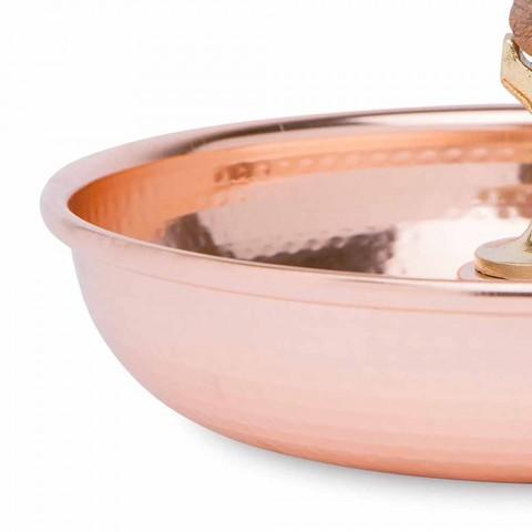 Bandeja para quebra-nozes em cobre estanhado com design artesanal de 24 cm - paronzo