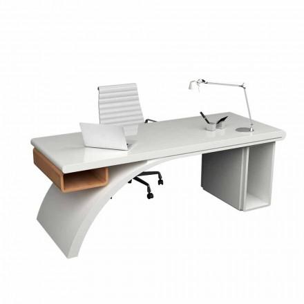 Mesa de escritório moderna feita de madeira e ponte de superfície sólida