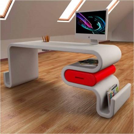 Mesa de escritório de design moderno Flex, inteiramente feita na Itália