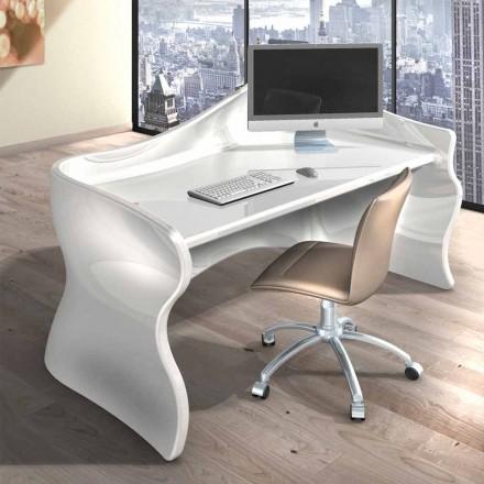 Mesa de escritório moderna feita de superfície sólida Velo, design italiano