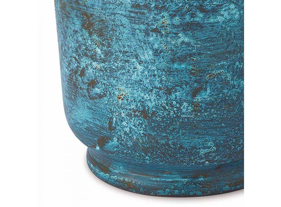 Balde de gelo para vinho com design em cobre polido ou verde 20 cm - Gennarino