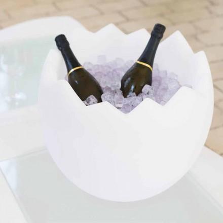 Balde de gelo branco brilhante Slide Kalimera, produzido 100% na Itália