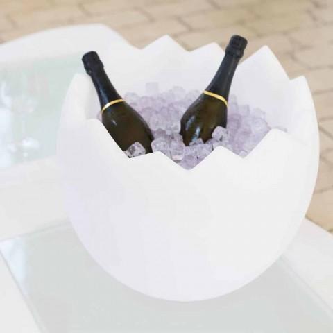 Balde de Gelo Kalimera Slide branco brilhante feito na Itália