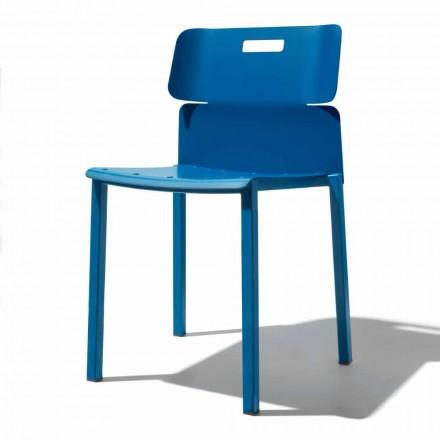 Cadeira Empilhável Colorida para Outdoor em Alumínio Made in Italy - Dobla
