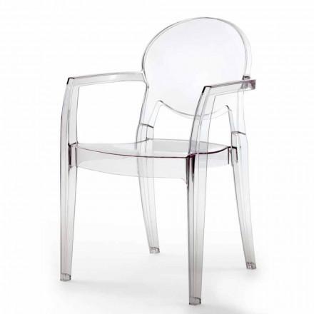 Cadeira Completamente com Apoio de Braços em Policarbonato - Dalila