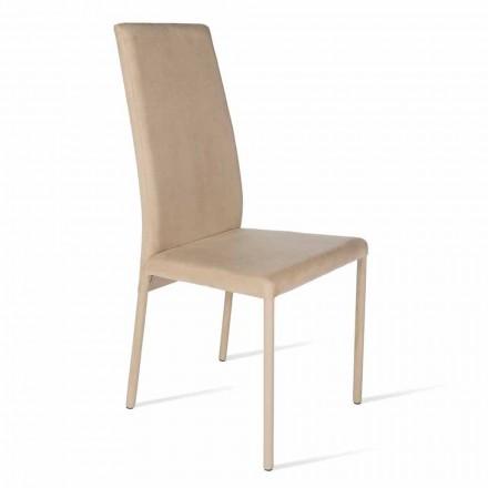 Cadeira feita com encosto alto, design moderno, Becca, fabricado na Itália