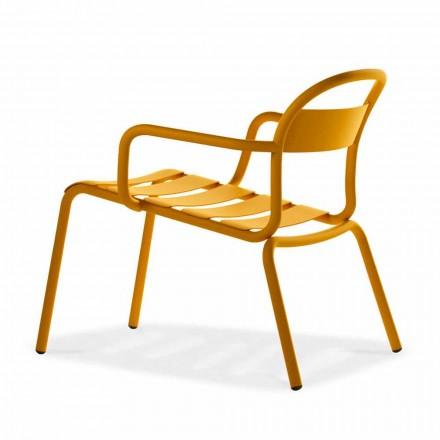 Chaise longue de exterior empilhável em alumínio, fabricada na Itália, 2 peças - Shyla