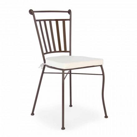 Cadeira de aço para ambiente externo com ou sem braços de jardim - Ionic