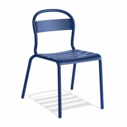 Cadeira empilhável de alumínio para exterior, fabricada na Itália, 4 peças - Ulyssa