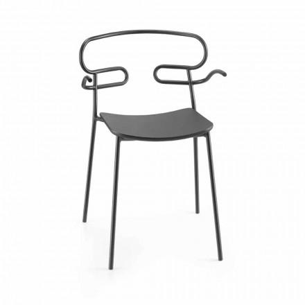 Cadeira Outdoor em Metal e Poliuretano Made in Italy, 2 peças - Trosa