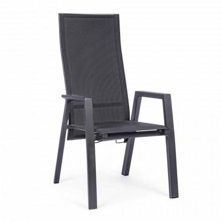 Cadeira Reclinável ao Ar Livre em Textilene e Alumínio, 4 Peças - Lucia