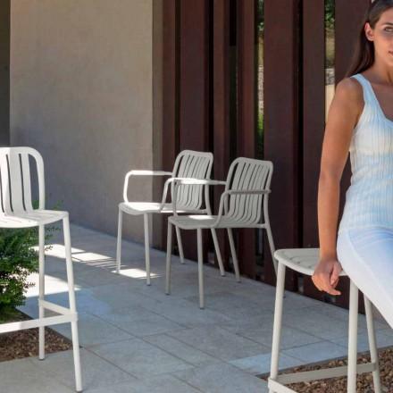 Cadeira de jardim de Trocadero com braços by Talenti, feita com alumínio