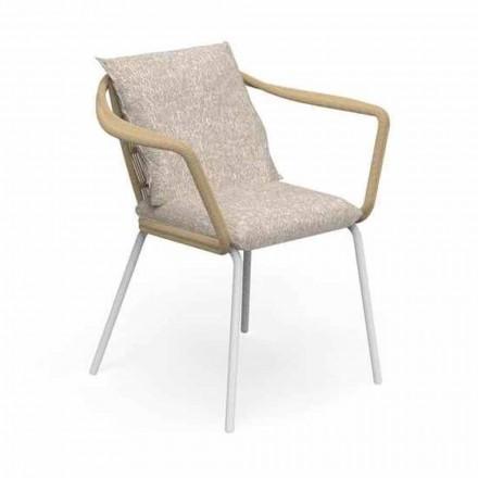 Cadeira de jardim de design moderno em alumínio e tecido - Cruise Alu Talenti