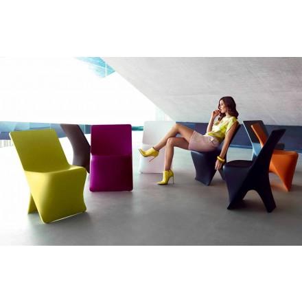 Cadeira de jardim Sloo by Vondom, design moderno em polietileno
