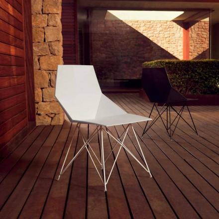 Modern cadeira Faz coleção Vondom, polipropileno e aço inoxidável