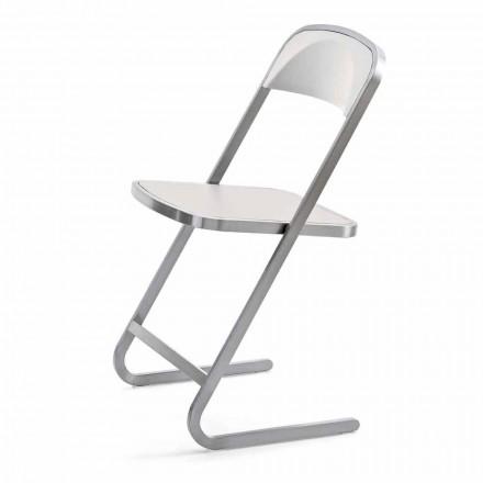Cadeira de jardim empilhável em design moderno fabricada na Itália - Boston