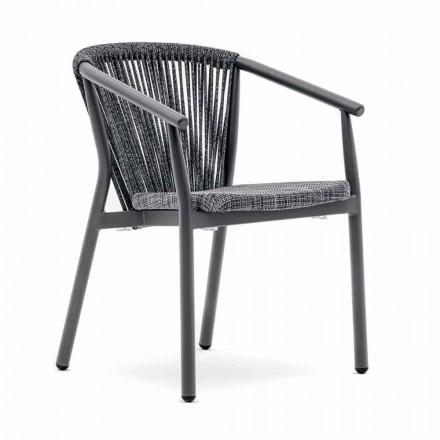 Cadeira de jardim empilhável em tecido técnico e de alumínio - Smart By Varaschin