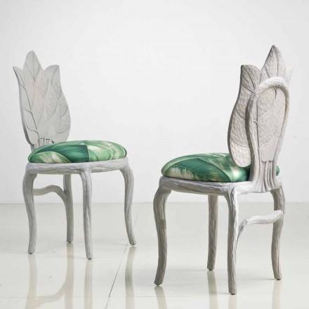 Cadeira de jantar estofada Daniel, design moderno feito na Itália