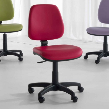 Cadeira de escritório giratória e ergonômica em tecido e couro ecológico - Danila