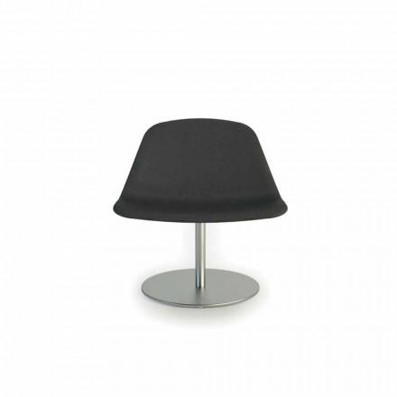 Cadeira de escritório Llounge com base redonda, fabricada na Itália por Luxy