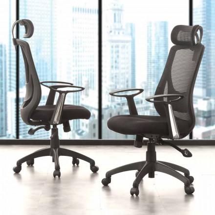 Cadeira Preta do Escritório Direcional e Operacional - Gerlanda
