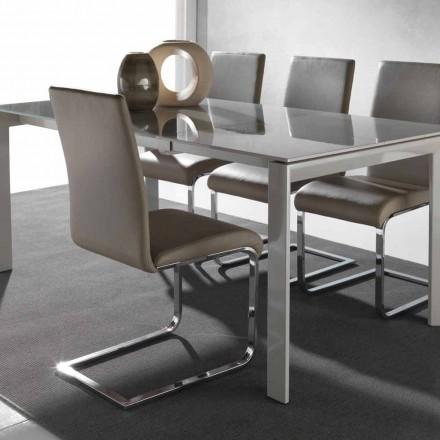 Cadeira de jantar Sweet de design moderno, com estrutura de metal
