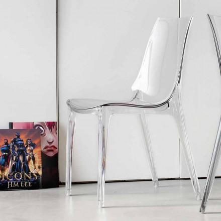Cadeira Design Moderno, Totalmente em Policarbonato - Gilda