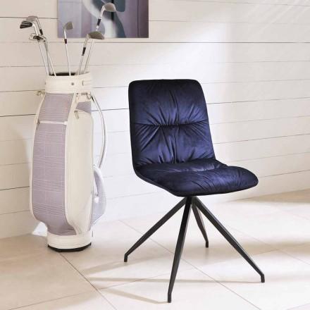 Cadeira de design moderno estofada em tecido Chiara