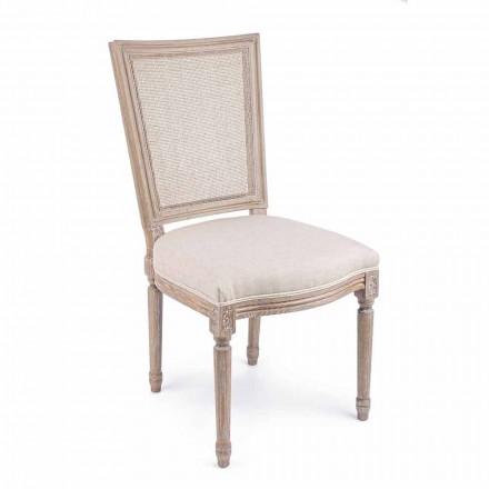 Cadeira Design Clássico com Estrutura em Madeira 2 Peças Homemotion - Murea