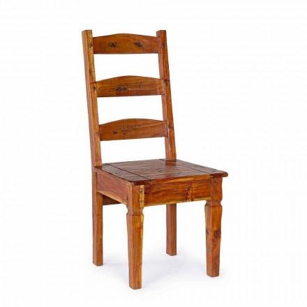 Cadeira Design Clássico em Madeira Maciça de Acácia Homemotion - Moritz