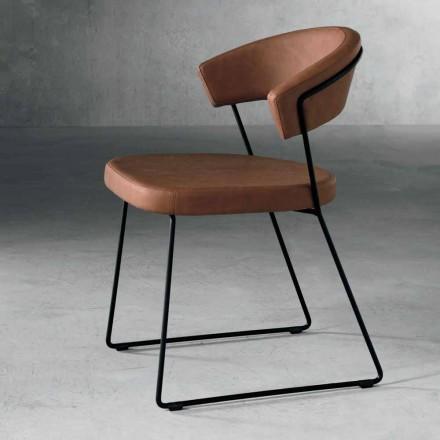 Cadeira de design em têxtil e metal made in Italy, Formia