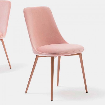 Cadeira de Design em Tecido e Metal Made in Italy - Itala