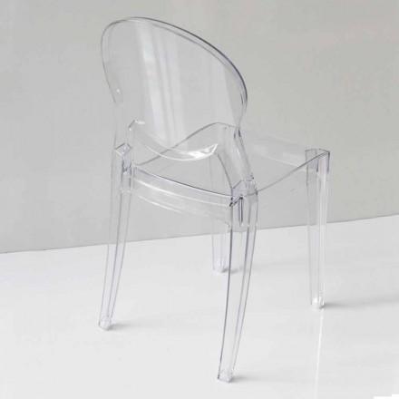 Cadeira Design Moderno em Policarbonato, 2 Cores - Dalila