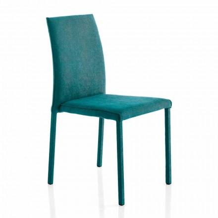 Cadeira de design em tecido para sala de jantar feita na Itália, Conny