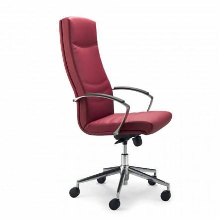 Monocoque cadeira de escritório de couro falso Debora, design moderno