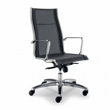 Cadeira executiva de design produzida na Itália com rede única Agata