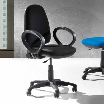 Cadeira ergonômica de escritório giratória moderna em couro ecológico ou tecido - Calogera