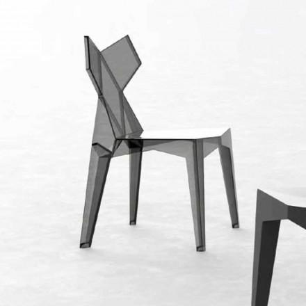 Cadeira de design empilhável para exterior em policarbonato, 4 peças - Kimono by Vondom