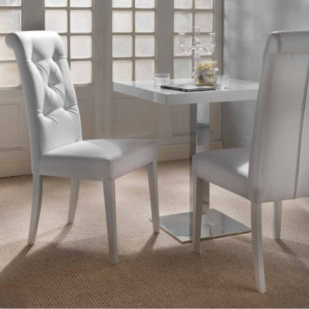 Cadeira estofada design com tufado de trabalho - Diana