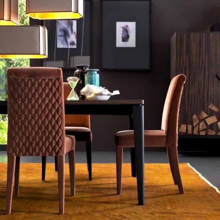 Cadeira lounge estofada de madeira maciça Grilli Zarafa made in Italy