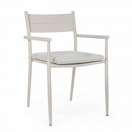 Cadeira Outdoor Empilhável em Tecido e Alumínio Homemotion, 4 Peças - Imani
