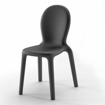 Cadeira Empilhável em Polietileno Colorido Fabricado na Itália, 2 Peças - Jamala