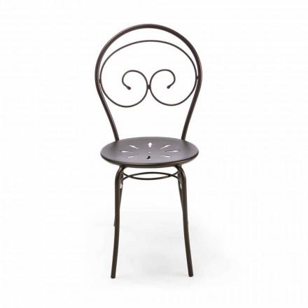 Cadeira empilhável para exterior em metal fabricada na Itália, 2 peças - Autoridade