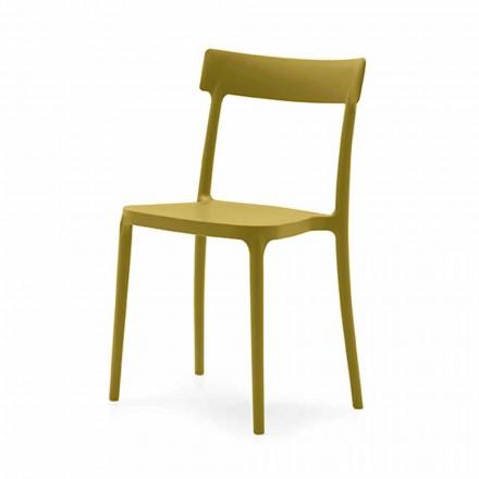 Cadeira empilhável em polipropileno fabricada na Itália, 2 pedaços - Argo